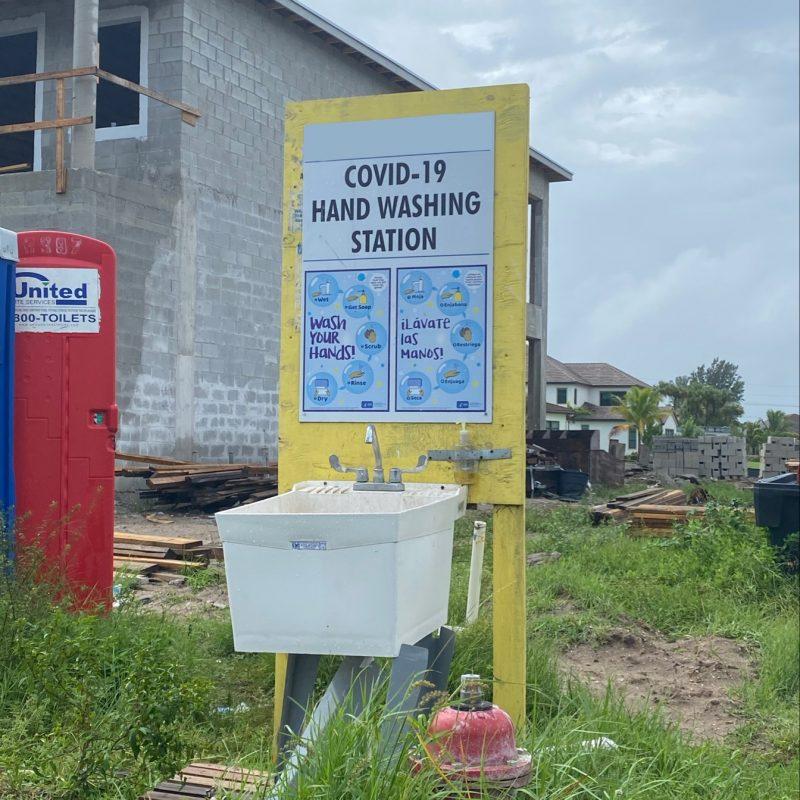 covid handwash station